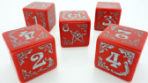 Red Arkham Horror Cursed Dice Set